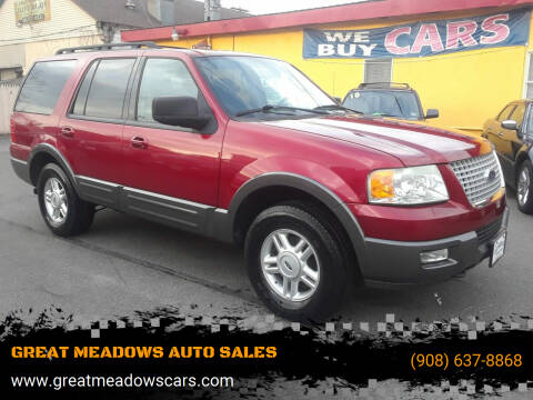 2005 Ford Expedition for sale at GREAT MEADOWS AUTO SALES in Great Meadows NJ