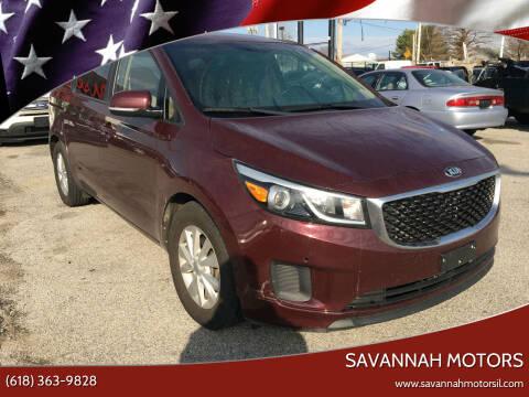 2017 Kia Sedona for sale at Savannah Motors in Cahokia IL
