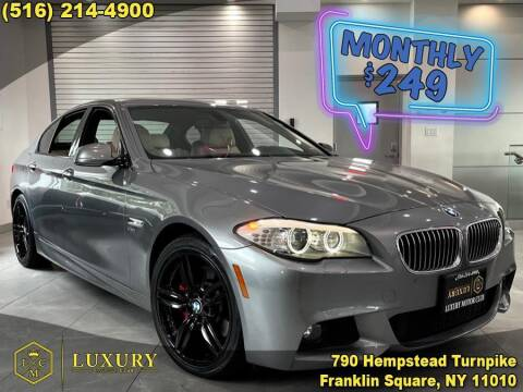 2012 BMW 5 Series for sale at LUXURY MOTOR CLUB in Franklin Square NY
