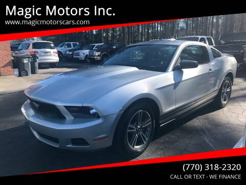 2010 Ford Mustang for sale at Magic Motors Inc. in Snellville GA