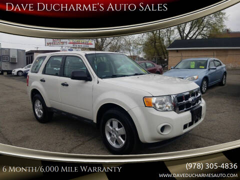 2012 Ford Escape for sale at Dave Ducharme's Auto Sales in Lowell MA