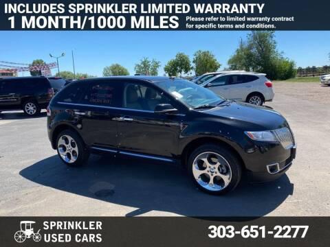 2013 Lincoln MKX for sale at Sprinkler Used Cars in Longmont CO