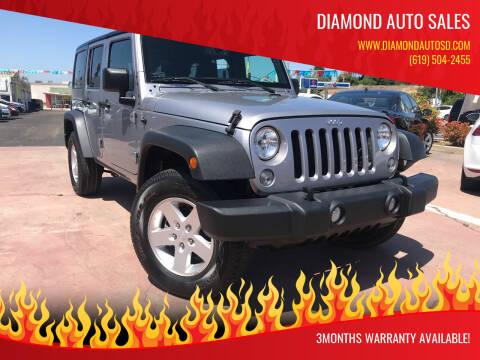 2018 Jeep Wrangler JK Unlimited for sale at DIAMOND AUTO SALES in El Cajon CA
