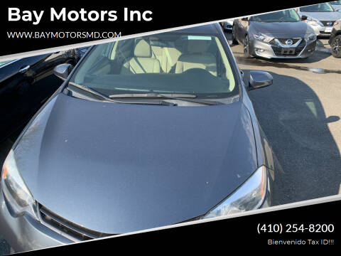 2016 Toyota Corolla for sale at Bay Motors Inc in Baltimore MD