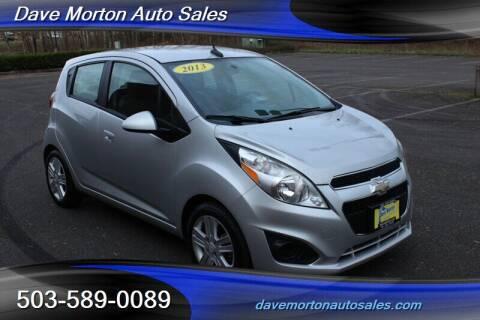 2013 Chevrolet Spark for sale at Dave Morton Auto Sales in Salem OR
