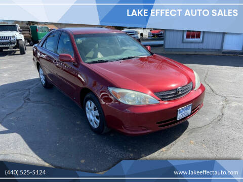 2003 Toyota Camry for sale at Lake Effect Auto Sales in Chardon OH