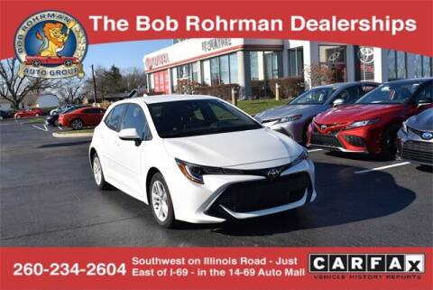 2019 Toyota Corolla Hatchback for sale at BOB ROHRMAN FORT WAYNE TOYOTA in Fort Wayne IN