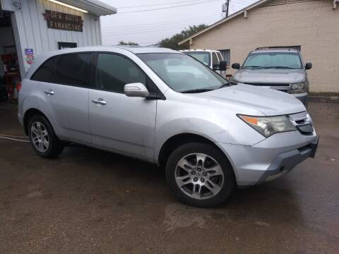 2008 Acura MDX for sale at DFW AUTO FINANCING LLC in Dallas TX