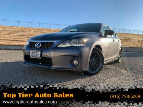2013 Lexus CT 200h for sale at Top Tier Auto Sales in Sacramento CA