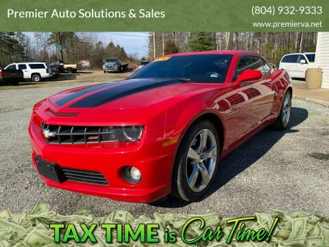 2010 Chevrolet Camaro for sale at Premier Auto Solutions & Sales in Quinton VA