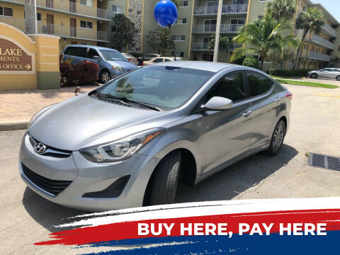 2016 Hyundai Elantra for sale at D & P OF MIAMI CORP in Miami FL