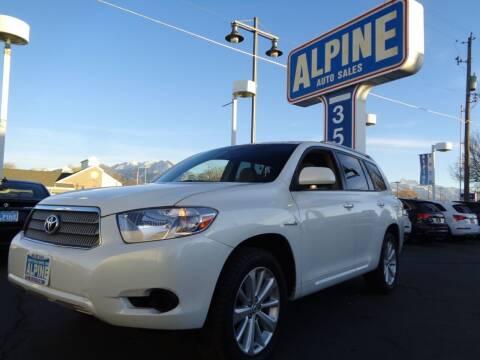 2008 Toyota Highlander Hybrid for sale at Alpine Auto Sales in Salt Lake City UT