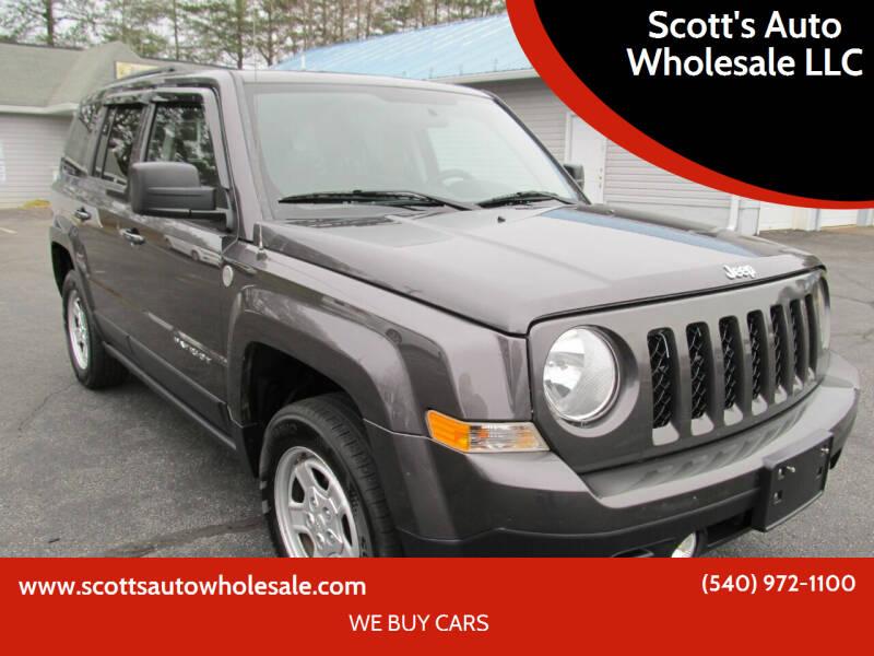2015 Jeep Patriot for sale at Scott's Auto Wholesale LLC in Locust Grove VA