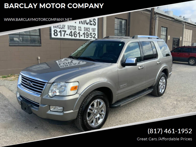 2008 Ford Explorer for sale at BARCLAY MOTOR COMPANY in Arlington TX