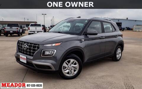 2020 Hyundai Venue for sale at Meador Dodge Chrysler Jeep RAM in Fort Worth TX