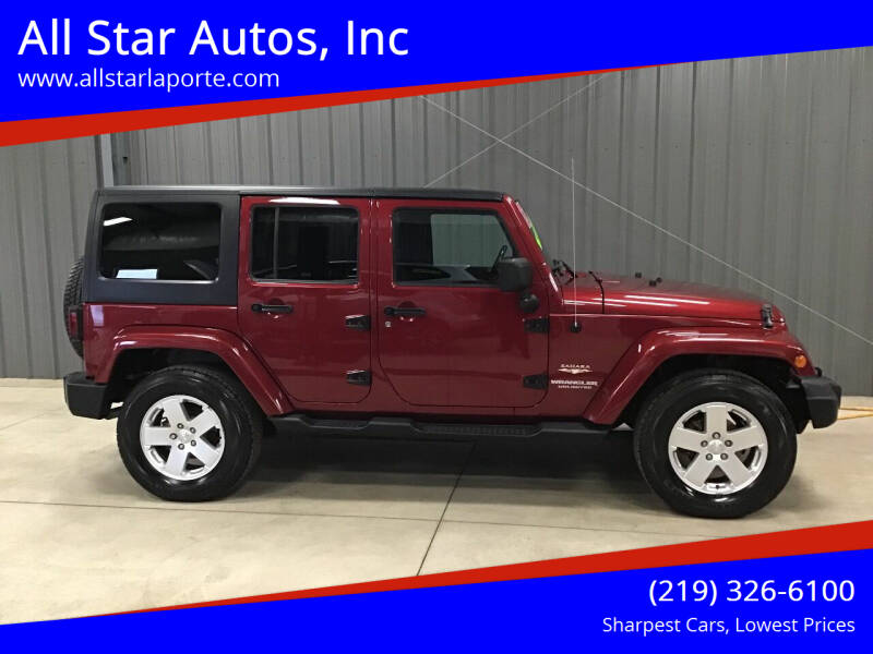 2012 Jeep Wrangler Unlimited for sale at All Star Autos, Inc in La Porte IN