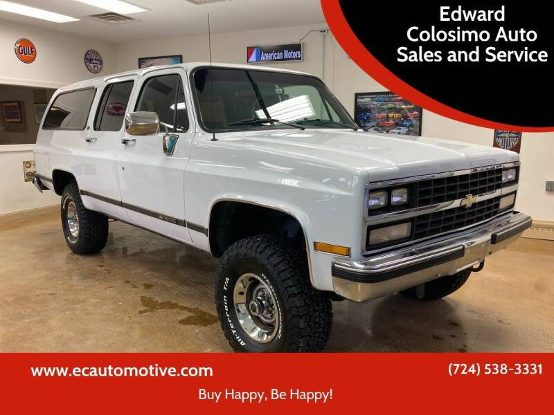 1989 Chevrolet Suburban for sale at Edward Colosimo Auto Sales and Service in Evans City PA