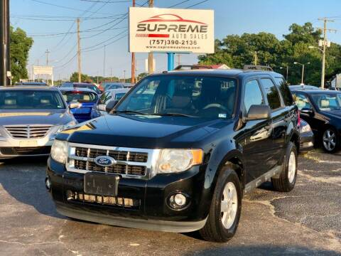 2011 Ford Escape for sale at Supreme Auto Sales in Chesapeake VA