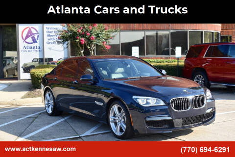 2015 BMW 7 Series for sale at Atlanta Cars and Trucks in Kennesaw GA