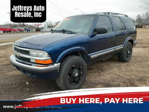 1999 Chevrolet Blazer for sale at Jeffreys Auto Resale, Inc in Clinton Township MI