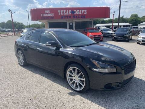 2011 Nissan Maxima for sale at Texas Drive LLC in Garland TX