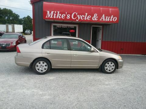 2002 Honda Civic for sale at MIKE'S CYCLE & AUTO in Connersville IN
