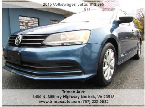 2015 Volkswagen Jetta for sale at Trimax Auto Group in Norfolk VA