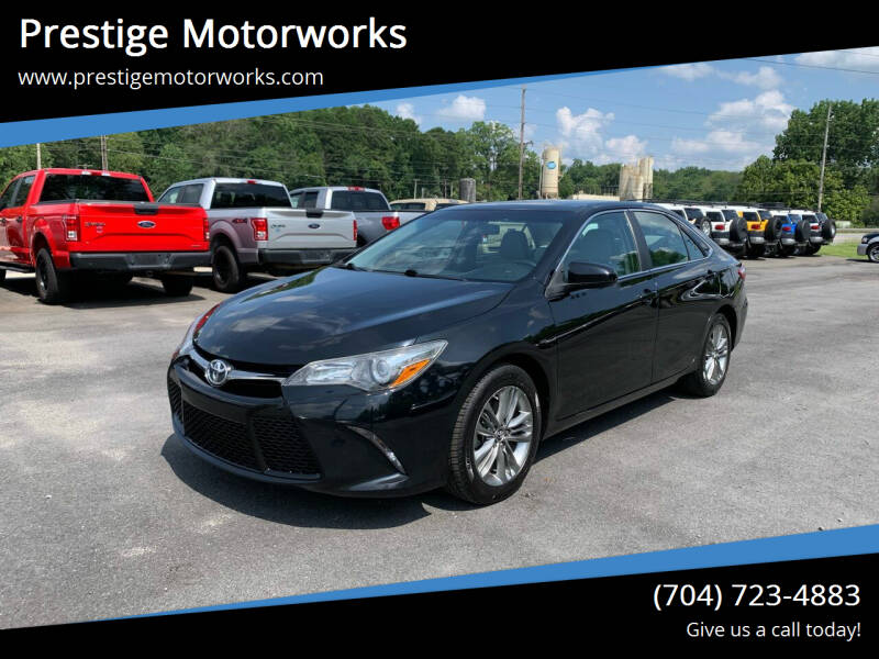 2015 Toyota Camry for sale at Prestige Motorworks in Concord NC