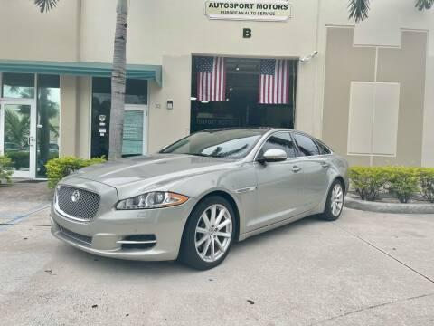 2013 Jaguar XJ for sale at AUTOSPORT MOTORS in Lake Park FL