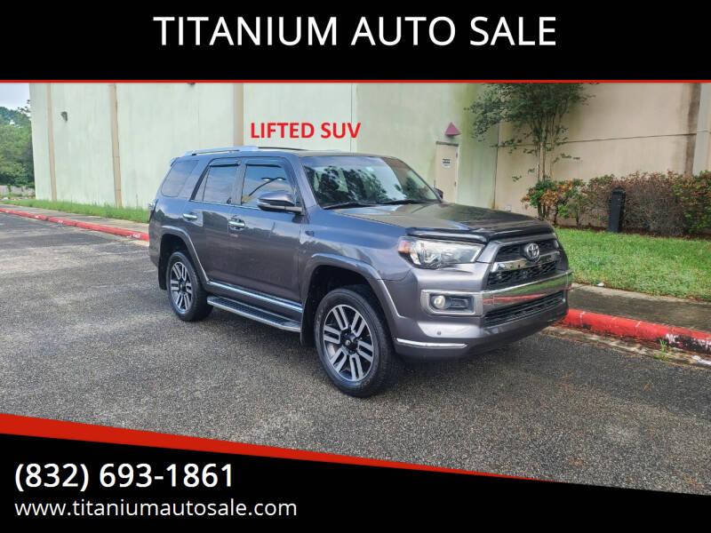 2014 Toyota 4Runner for sale at TITANIUM AUTO SALE in Houston TX