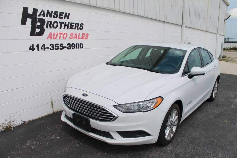 2017 Ford Fusion Hybrid for sale at HANSEN BROTHERS AUTO SALES in Milwaukee WI