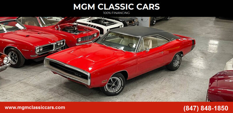 1970 Dodge Charger for sale at MGM CLASSIC CARS in Addison IL