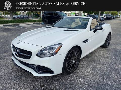 2018 Mercedes-Benz SLC for sale at Presidential Auto  Sales & Service in Delray Beach FL