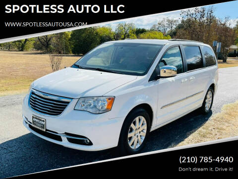 2011 Chrysler Town and Country for sale at SPOTLESS AUTO LLC in San Antonio TX