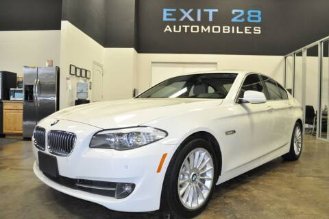 2013 BMW 5 Series for sale at Exit 28 Auto Center LLC in Cornelius NC