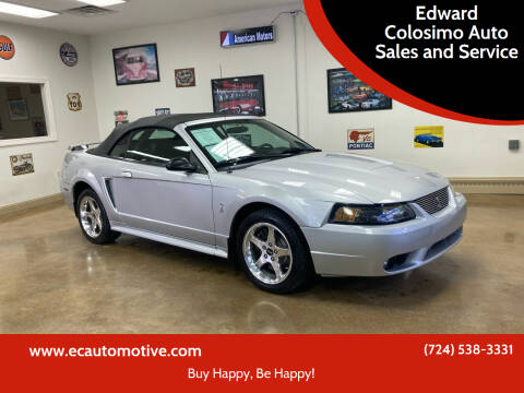 2001 Ford Mustang SVT Cobra for sale at Edward Colosimo Auto Sales and Service in Evans City PA