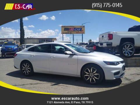 2018 Chevrolet Malibu for sale at Escar Auto in El Paso TX