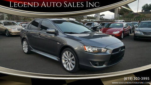 2010 Mitsubishi Lancer for sale at Legend Auto Sales Inc in Lemon Grove CA