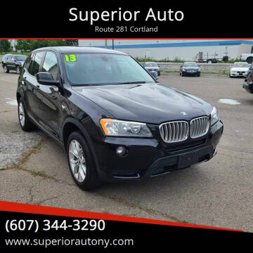 2013 BMW X3 for sale at Superior Auto in Cortland NY