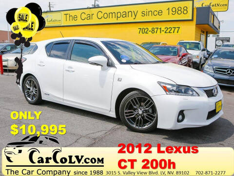2012 Lexus CT 200h for sale at The Car Company in Las Vegas NV