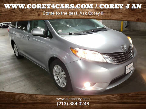 2017 Toyota Sienna for sale at WWW.COREY4CARS.COM / COREY J AN in Los Angeles CA