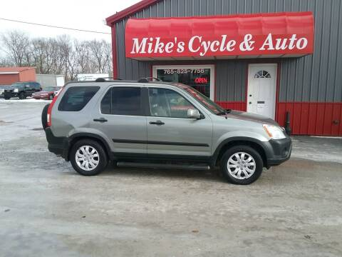 2006 Honda CR-V for sale at MIKE'S CYCLE & AUTO in Connersville IN