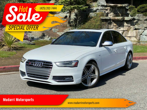 2013 Audi S4 for sale at Mudarri Motorsports in Kirkland WA