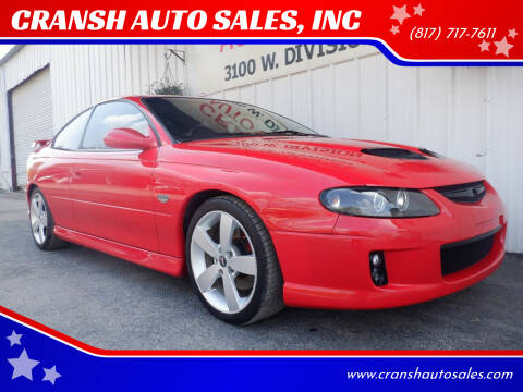 2005 Pontiac GTO for sale at CRANSH AUTO SALES, INC in Arlington TX