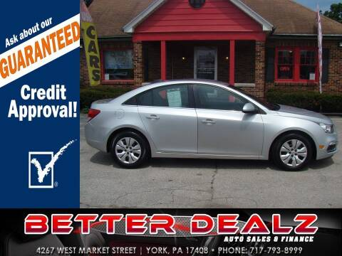 2016 Chevrolet Cruze Limited for sale at Better Dealz Auto Sales & Finance in York PA