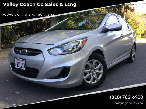 2012 Hyundai Accent for sale at Valley Coach Co Sales & Lsng in Van Nuys CA