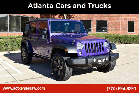 2017 Jeep Wrangler Unlimited for sale at Atlanta Cars and Trucks in Kennesaw GA