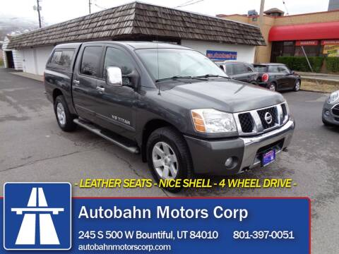 2007 Nissan Titan for sale at Autobahn Motors Corp in Bountiful UT