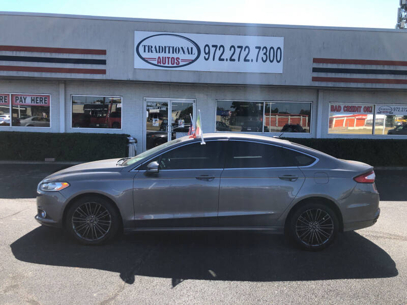 2013 Ford Fusion for sale at Traditional Autos in Dallas TX