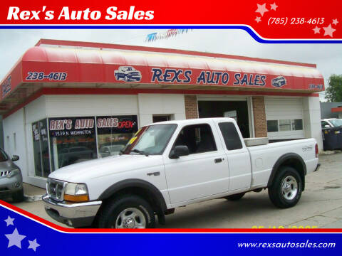 2000 Ford Ranger for sale at Rex's Auto Sales in Junction City KS